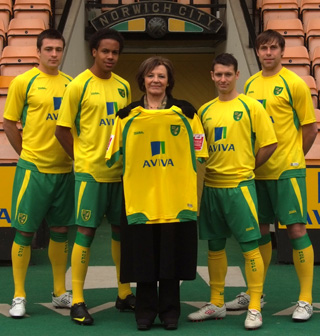 New Norwich City home shirt 2010-11
