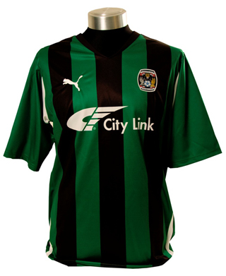 Coventry away shirt 2010