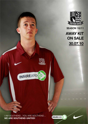Southend United Home Shirt 10-11