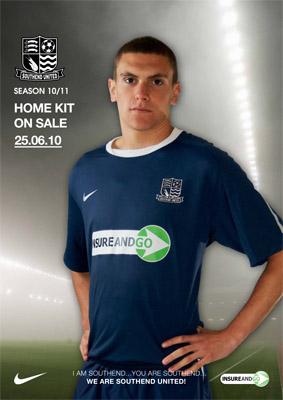 Southend United Home Shirt 10-11