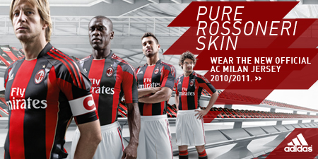 low priced 87c0d 2342b AC Milan Home Kit 10-11 Adidas | Football Kit News