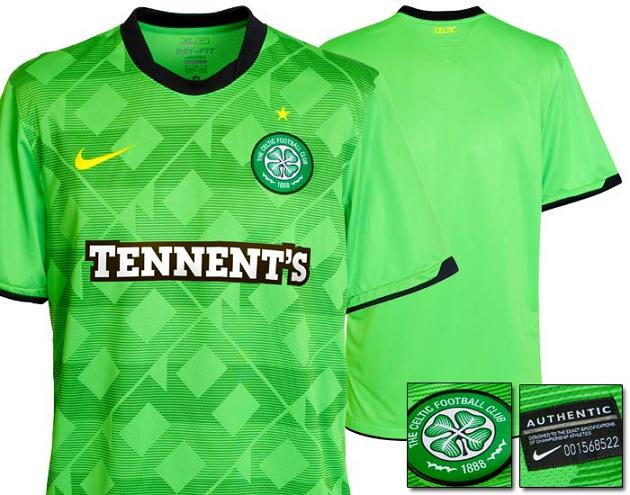 New Celtic Away Strip 10 11