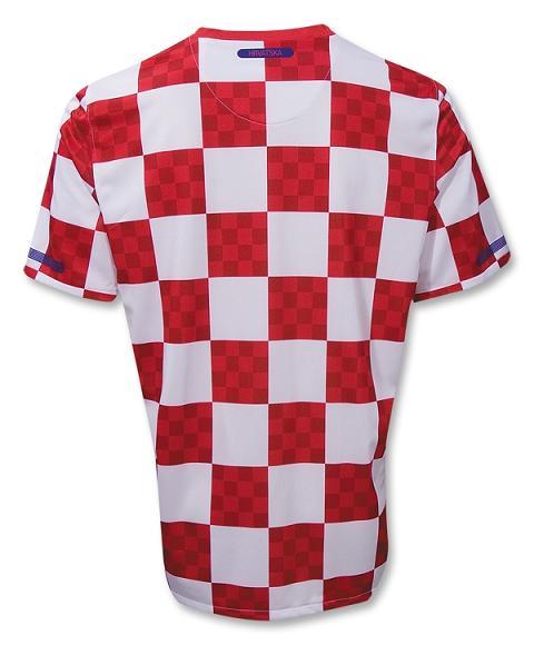 Croatia 10-11 Nike Jersey Back