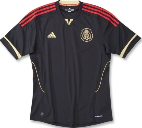 Black Mexico Away Jersey 2011 Gold Cup