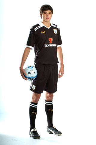 Black Preston Away Kit 11/12