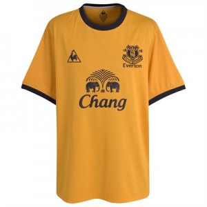 Everton Away Shirt Amber