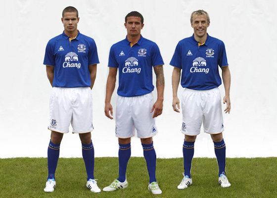 New Everton Home Kit 2012