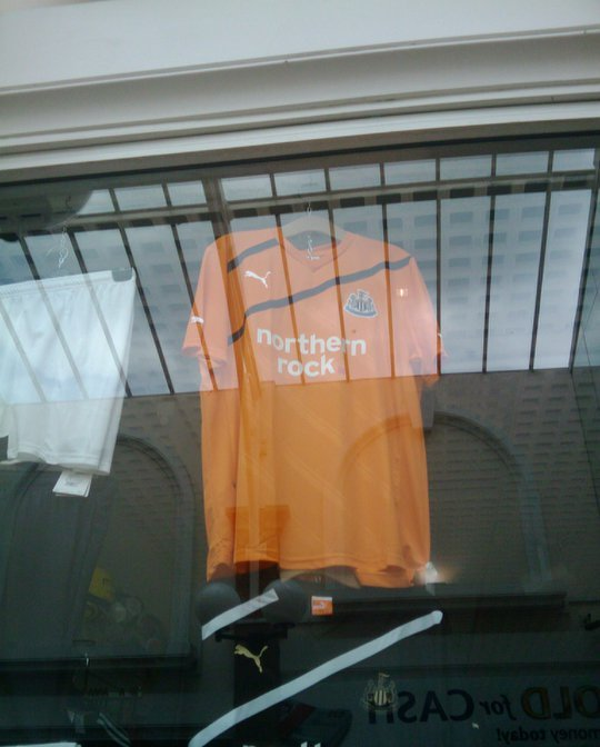 Leaked Newcastle Away Kit 11-12 Orange