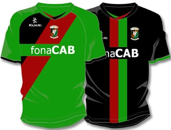 New Kukri Glentoran Kit 11-12 Home & Away