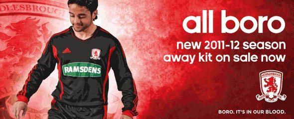 New Middlesbrough Away Kit 11-12