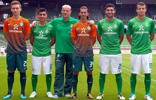 New Werder Bremen Kits 11-12 Home Away Jersey