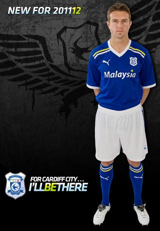 dfc25d3c6 Puma Cardiff City Home Shirt 2011-2012