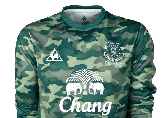 Green Camouflage Everton Goalkeeper Shirt 2012