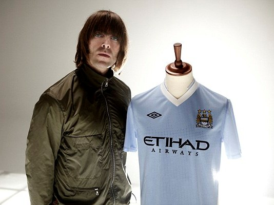 Liam Gallagher Man City Kit 2012