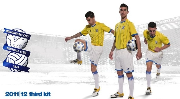 New Birmingham Europa League Kit Yellow