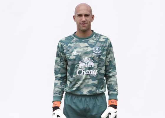 New Everton Home Goalkeeper Kit 11-12