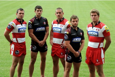 New KooGa Gloucester Rugby Shirt 11-12 Home Away