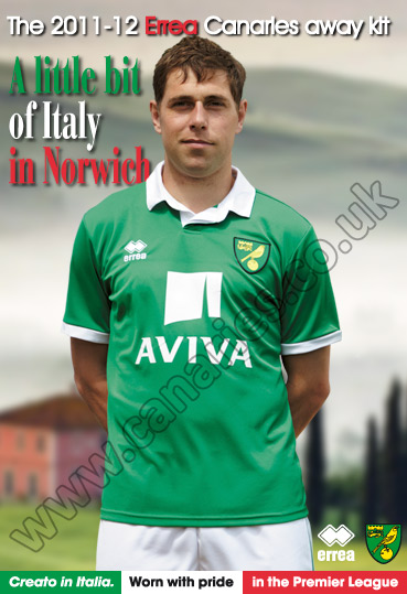 New Norwich Away Kit 2012 Green