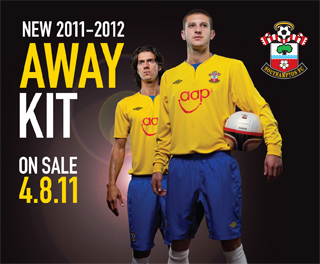 Yellow Southampton Kit 11-12