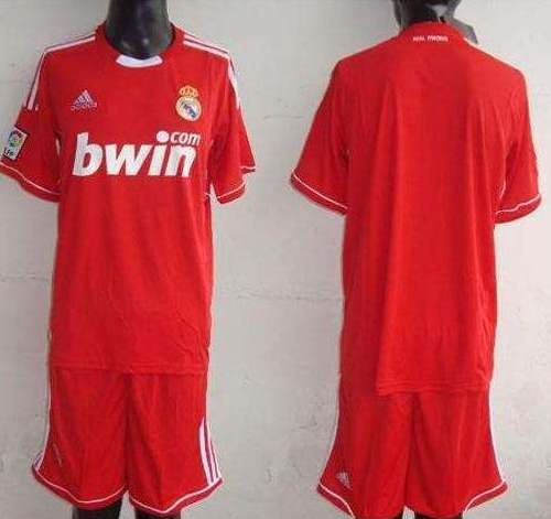 8e43012be Red Real Madrid Third Kit 11-12 Champions League Jersey 2011-2012 ...