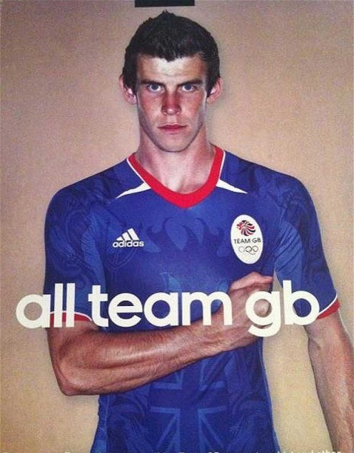 Team GB Football Kit 2012 Gareth Bale