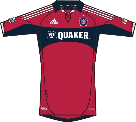 Quaker Oats Chicago Fire Jersey 2012