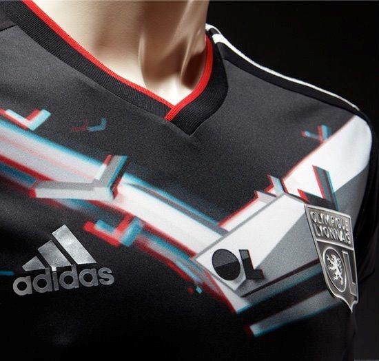 3D Soccer Jersey Lyon
