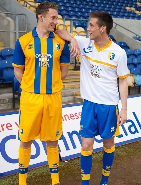 Errea Mansfield Town Kits 2012-13