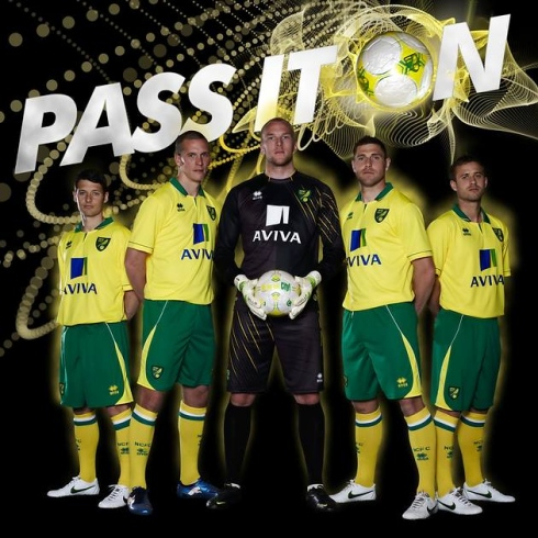 Norwich New Kit 2013