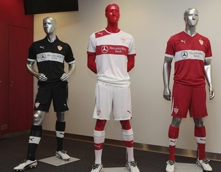 New vfb stuttgart kits 2012 2013 puma stuttgart home away for Germany mercedes benz soccer jersey