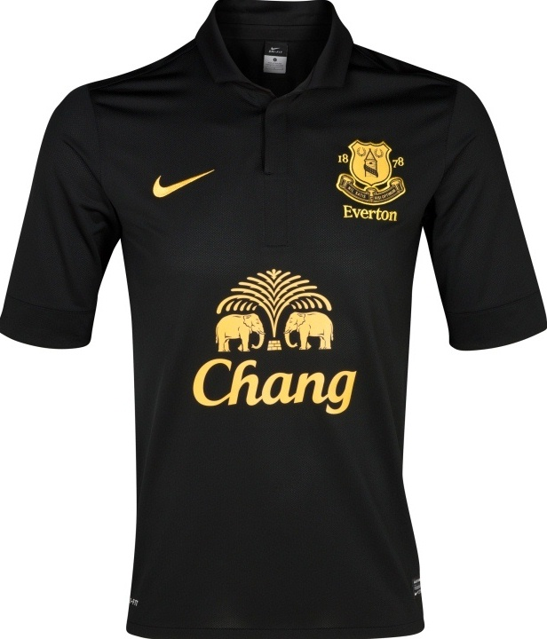 Black Everton Jersey 2012-2013 Nike
