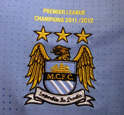 Man City Premier League Champions Jersey 2012