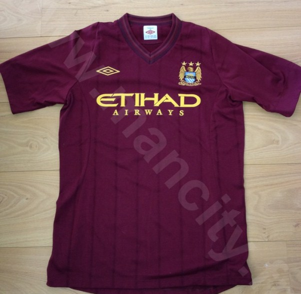 Maroon Manchester City Kit Leaked 2012-13