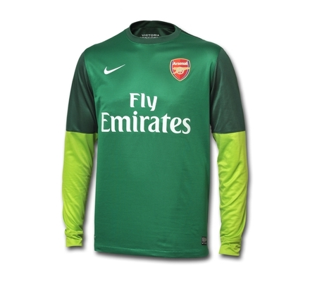new arrival f958e 2fc30 New Arsenal Goalkeeper Kit 2012-2013- Nike Arsenal Home GK ...