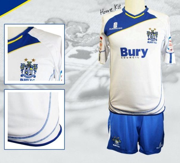 New Bury Home Kit 2012-2013
