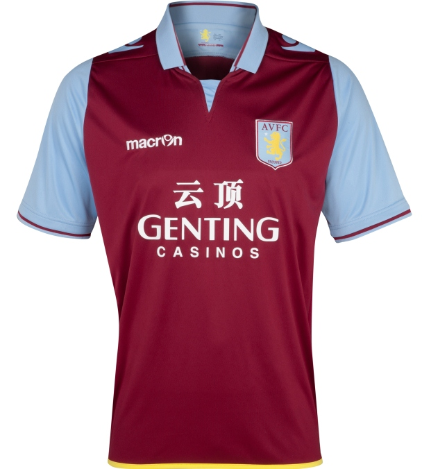 Aston Villa New Shirt 2013
