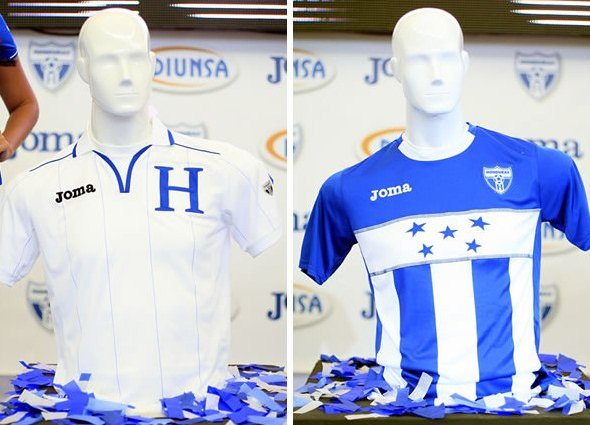 competitive price 21c83 e53fc New Honduras Kits 2012-2013- Joma Honduras Jersey Home Away ...