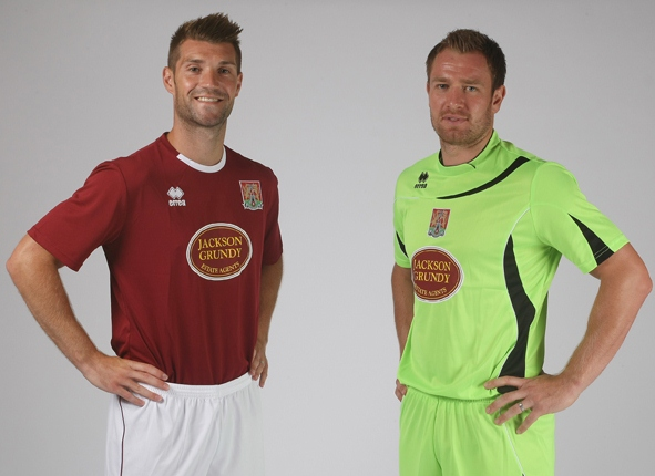 c7b8db9c936 New Northampton Town Kits 12-13- Errea Northampton Town FC Home Away ...