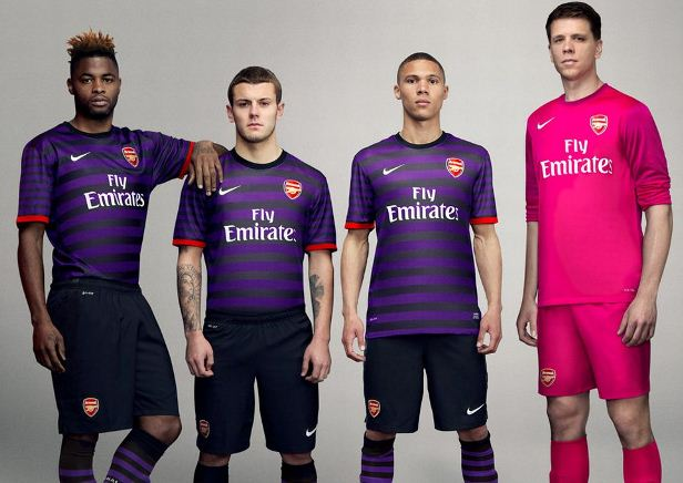 New Arsenal Away Kit 12 13- Purple Arsenal Away Shirt 2012-2013 Nike ... 2ae28773f