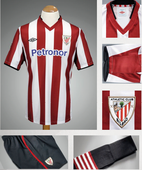 New Athletic Bilbao Home Kit 12-13
