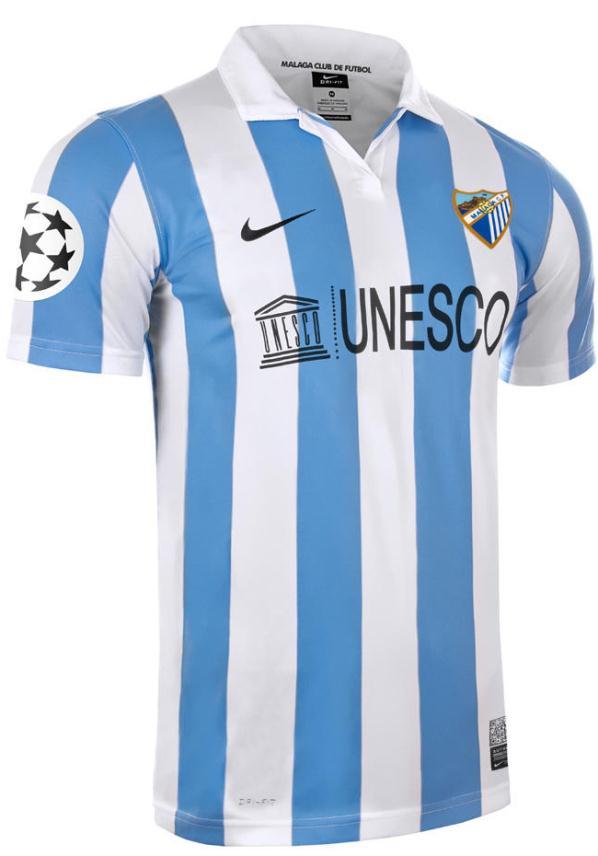 New Malaga Soccer Jersey 2012
