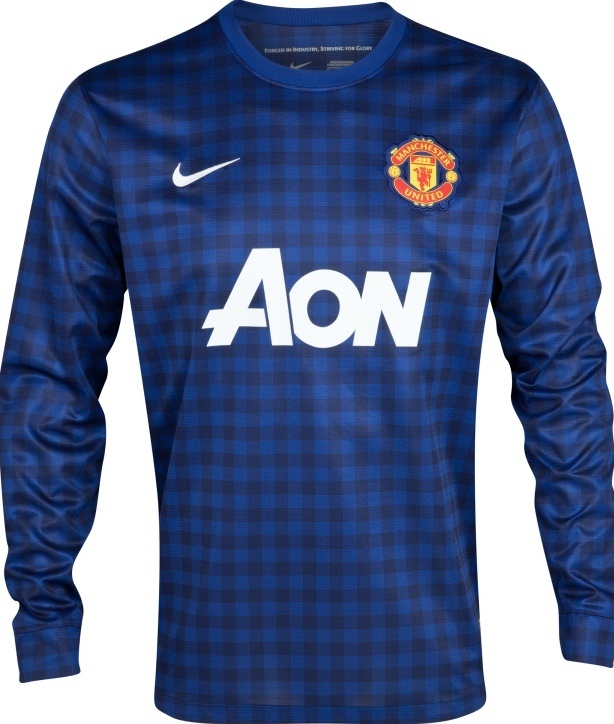 New Man Utd Away Goalkeeper Kit 2012 13 Blue Manchester United Gk Shirt 12 13 Football Kit News