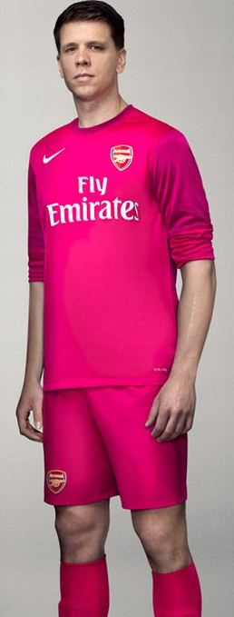 on sale 73b72 72e48 New Arsenal Away Goalkeeper Kit 12 13- Pink Arsenal GK Shirt ...