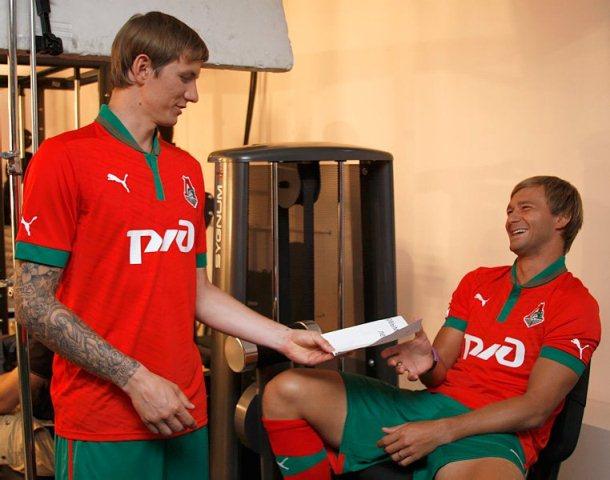 Roman Pavlyuchenko Lokomotiv Moscow 2012 Shirt