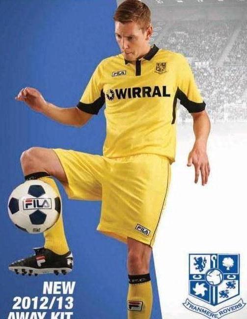 Yellow Tranmere Away Kit 12 13