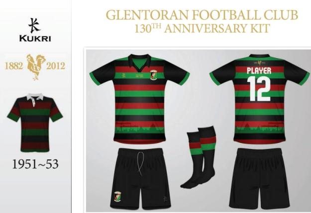Glentoran 130th anniversary kit