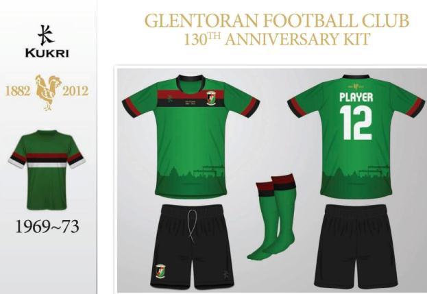 Glentoran new 130 anniversary shirt