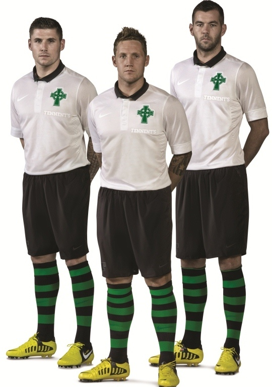 New Celtic 125th Anniversary Strip 2012 2013- Nike Celtic White 3rd ... e0379f76e