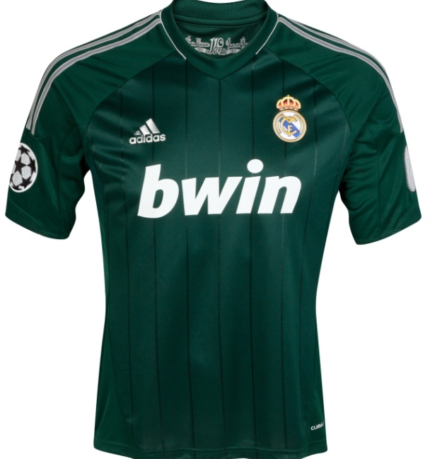 f8f697b736d New Real Madrid Third Kit 2012 2013- Green Real Madrid Champions ...