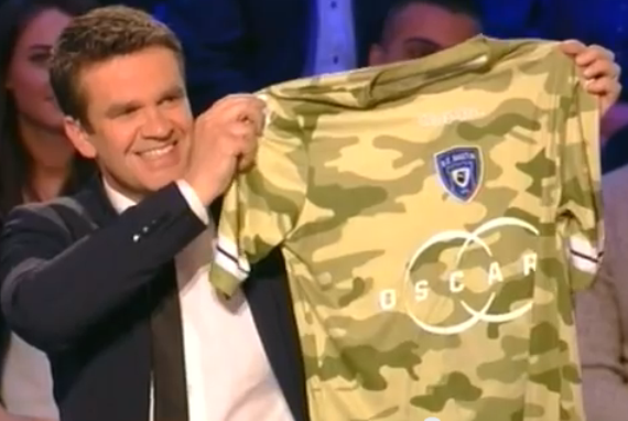 Bastia Camouflage Soccer Jersey 2013